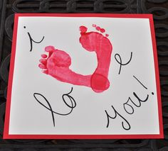 Valentine's Day Foot Print Craft