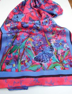 Forget Me Not  Silk Scarf £75.00
