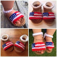 Forth of july baby shoes