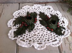 Check out this item in my Etsy shop https://www.etsy.com/listing/213174353/victorian-christmas-candle-holders