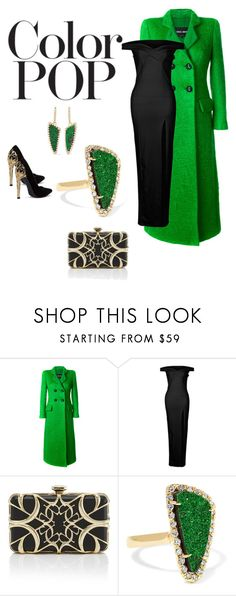 """""""Little Gem"""" by lizette-jacques-de-bruyn ❤ liked on Polyvore featuring Giorgio Armani, Elie Saab, Kimberly McDonald and statementcoats"""