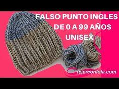 "Gorros imitación ""punto elástico"" en 2 agujas pero tejido a CROCHET - Tejiendo Perú - YouTube Crochet Cocoon, Chunky Crochet, Knit Crochet, Crochet Hats, Knitting Socks, Baby Knitting, Knitted Hats, Fingerless Mitts, Little Gifts"