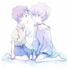 Neon Genesis Evangelion - cute Shinji & Kaworu