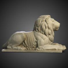 3ds max stone lion sculpture 2