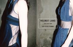 Helmut Lang Campaign, photographed by Juergen Teller, Fall/Winter 2004