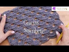 Como Tejer Chal a Crochet Rectangular - YouTube