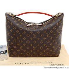 5e2c0b95bf Louis Vuitton M40586 Sully PM Hobo Bag Monogram Canvas