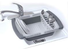 The Progressive collapsible dish drainer is the perfect tool for drying your dishes without taking up space. This dish drainer holds 8 plates that are 10 inches dia. and can collapse to safe space. Camper Life, Rv Campers, Happy Campers, Camper Van, Truck Camper, Casita Camper, Tiny Camper, Popup Camper, Truck Bed