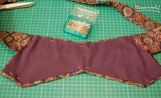 tutorial-cinturón-con-corbatas-7 Girls Dresses Sewing, Sewing Clothes, Diy Clothes, Corset Belt, Obi Belt, Look Fashion, Diy Fashion, Cinto Obi, Corporate Shirts