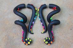 Rainbow Tentacles Gauge or Fake Gauge by SwirlyGirlyGoddess