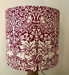 British Standards, Red Fabric, William Morris, Printing On Fabric, Red And White, Rabbit, Handmade Items, Shades, Bespoke