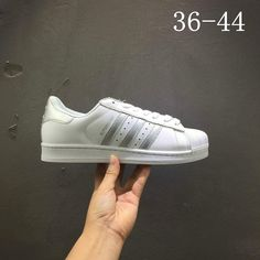 separation shoes 0951f 476ed Latest Unisex Adidas Superstar White Silver AQ3091