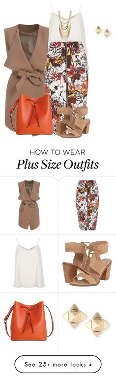 """""""plus size summer business chic"""" by kristie-payne on Polyvore featuring River Island, Lodis, BCBGeneration, Steve Madden and Valentino"""