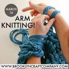 Arm Knitting- FREE tutorial