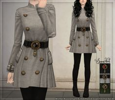 Have a thing, my dears: A cute little trench coat that came with the Mother Russia set from the TS3 store, with boots ripped from RE6. Has b...