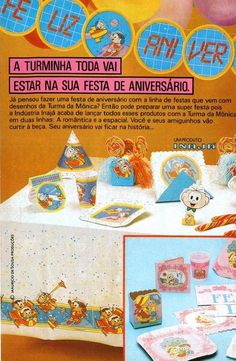 Festa de Aniversário da Turma da Mônica #anos80 #nostalgia