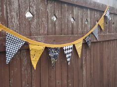 Fabric Bunting Flags  Bumblebee by littlehouseofcolors on Etsy, $27.00