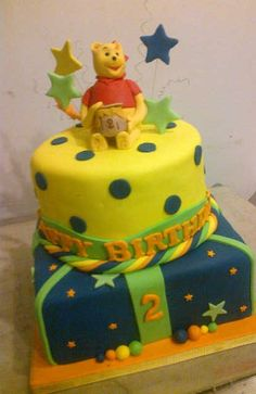 Happy birthday with Winnie The Pooh. - Belle's Patisserie