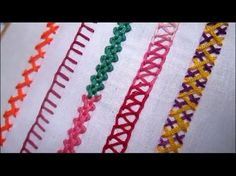 Basic Embroidery Stitches # Part-2 | Embroidery stitch for beginners - YouTube