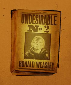 Ronald Weasley-Undesirable No 2: Oh the propaganda!!!!
