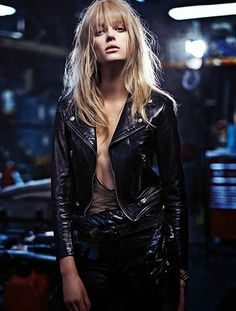 Sigrid Agren by Steven Pan for Vogue Ukraine (find the perfect leather garments at www.bluegold.nl)