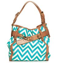 Mark Get In The Groove Handbag A Preppy Bucket Bag Structure Meets Playful Chevron