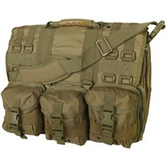 """Tactical"" Messenger Bag. I own this one and I can pack quite a bit in it, including my laptop."
