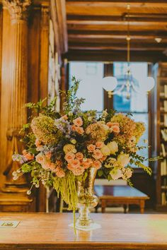 Flowers in Othmer Library  @RebeccaShepherd Floral Designs Photo @AmberGress