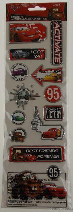 Disney Pixar Cars Movie Stickers 8 Packs McQueen Mater Finn McMissile Yellow NEW #DisneyPixar