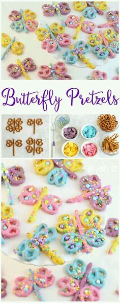Can't believe I didn't invent this: Butterfly And Dragonfly Pretzels!