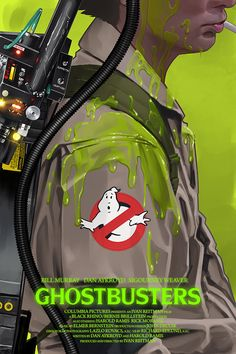 Ghostbusters Slime Alternative Movie Poster by Yvan Quinet NT Mondo 80s Movie Posters, Movie Poster Art, Fan Poster, Horror Posters, Movie Tv, Pulp Fiction, Science Fiction, The Real Ghostbusters, Movie Posters