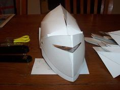 Diy Cardboard Knight Helmet Template