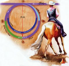 Spring Horse-Training Tip: Remember that transition work helps with accuracy. Horsemanship Patterns, Western Horsemanship, Horse Exercises, Training Exercises, Ranch Riding, Barrel Racing Horses, Horse Training Tips, American Quarter Horse, Horse Pattern