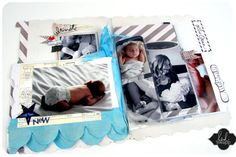 sewing page protectors inside Memory Files to create albums