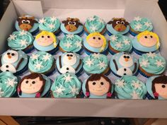 Frozen Cupcakes with Sven, Anna, Elsa & Olaf