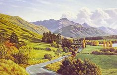 Road to Queenstown - Lake Hayes by Peter Morath