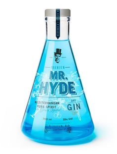 Hyde packaging - The concept behind Dr. Hyde packaging was based around the creation of a special edition combo of gin and tonic. Cool Packaging, Beverage Packaging, Bottle Packaging, Brand Packaging, Design Packaging, Alcohol Bottles, Liquor Bottles, Gin Liquor, Liquor Drinks