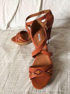 GEOX RESPIRA Ladies Summer Sandals Hells shoes UK7 EU41 BNWOB RRPover £100