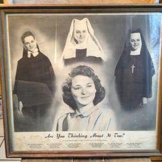 VINTAGE RELIGIOUS CATHOLIC Nun Recruiting Poster