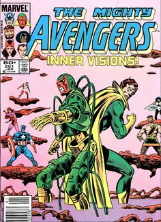 Marvel Comics, The Avengers, Ultimate Vision Old Comic Books, Comic Book Pages, Marvel Comic Books, Comic Book Covers, Comic Book Characters, Superhero Characters, Hq Marvel, Marvel Comics Superheroes, Marvel Heroes