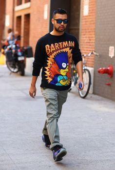 Jeremy Scott Bartman Sweater   Street Fashion   Street Peeper   Global Street Fashion and Street Style