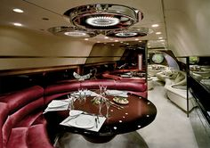 Nick Gleis has a series of photos that reveal the interior opulence of the private jets owned by African dictators in the and Jets Privés De Luxe, Luxury Jets, Luxury Private Jets, Private Plane, Luxury Yachts, African Dictators, Boeing Business Jet, Brighton Photography, Private Jet Interior