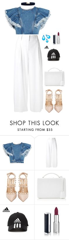 """I'm don't know if you good ."" by remooooo ❤ liked on Polyvore featuring Philosophy di Lorenzo Serafini, Diane Von Furstenberg, Valentino, Mark Cross, adidas, Givenchy and Vanessa Mooney"