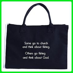 Go Fishing And Think About God - Tote Bag - Top handle bags (*Amazon Partner-Link)