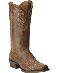 Ariat Women's Ardent Cowgirl Boots - Square Toe- dress boots