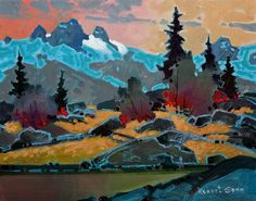 Pattern Above Cobalt Lake, Bugaboos, by Robert Genn