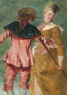 Detail from The Embarkation for Cythera, by Jean-Antoine Watteau