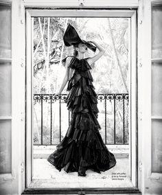 Gown hat dress Fernando Garcia fashion designs miami beach