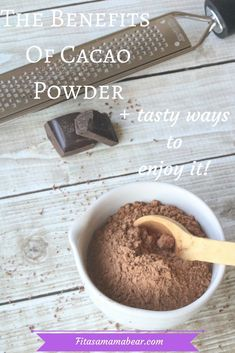 Learn about the benefits of cacao powder (healthy chocolate) and tasty ways to enjoy this real food based superfood Yummy Recipes, Cacao Recipes, Real Food Recipes, Raw Cacao Benefits, Cacao Powder Benefits, Healthy Food Choices, Healthy Eating Tips, Eating Paleo, Clean Eating