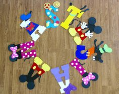 Mickey Mouse Clubhouse Wooden Letters - Minnie Mouse, Goofy, Pluto, Donald Duck